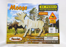 Load image into Gallery viewer, MOOSE 3-D WOOD MODEL