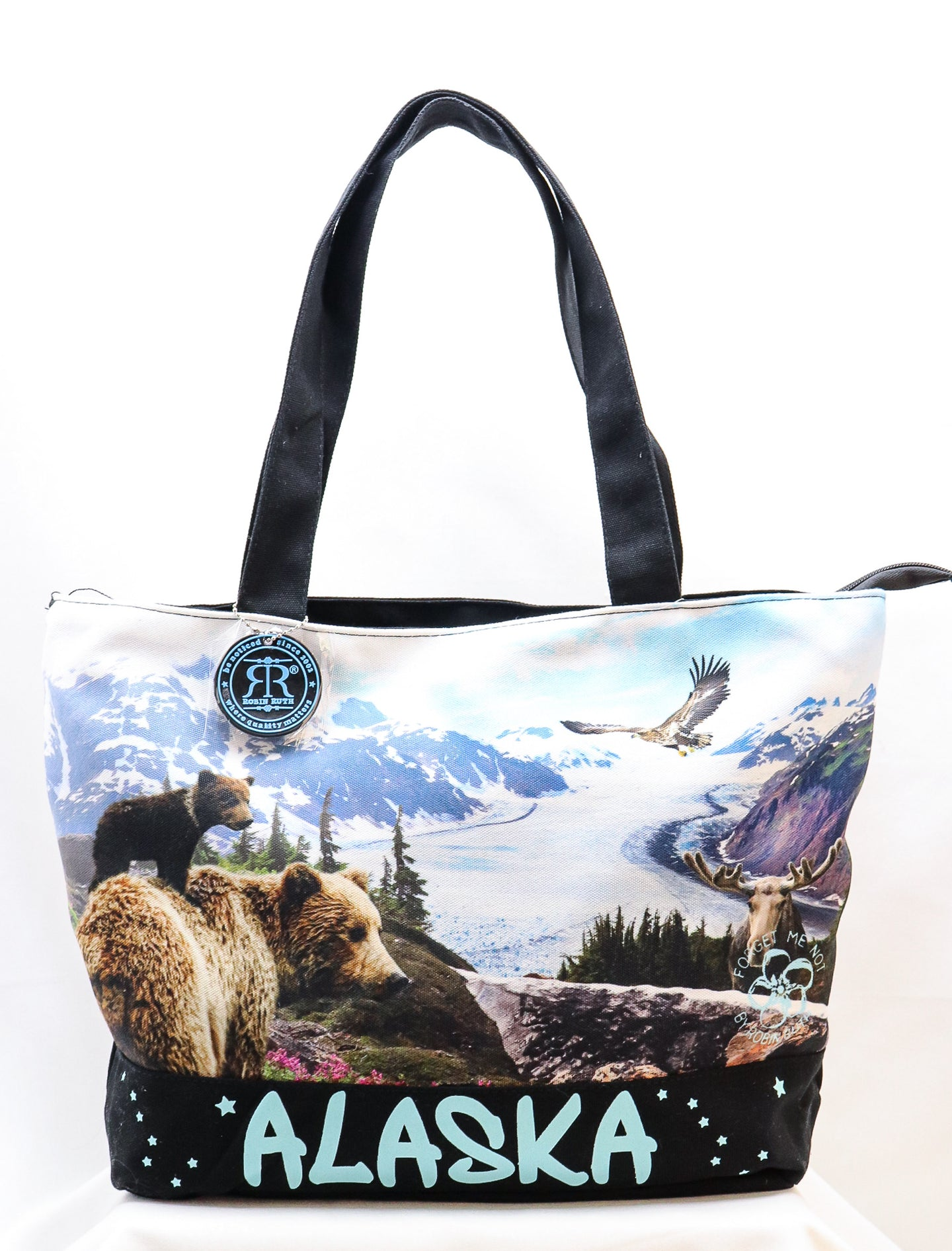 ROBIN RUTH ORIGINAL ALASKAN WILDLIFE CANVAS HANDBAG