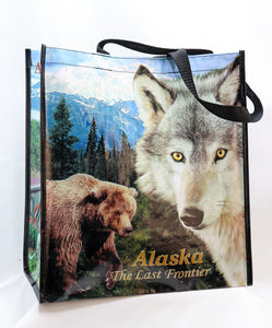 REUSABLE PHOTOGRAPHIC ALASKAN ANIMALS BAG