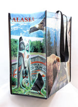 Load image into Gallery viewer, REUSABLE PHOTOGRAPHIC ALASKAN ANIMALS BAG