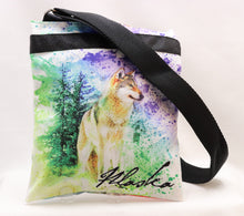 Load image into Gallery viewer, DOUBLE-SIDED INKED MOOSE AND WOLF PRINTED CROSSBODY BAG