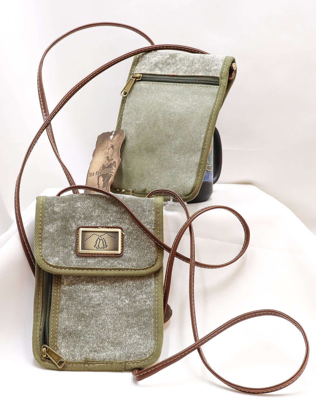 CANVAS CROSSBODY PASSPORT CARRIER