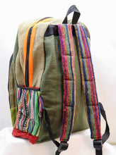 Load image into Gallery viewer, COLORBLOCKED HANDMADE CANVAS BACKPACK