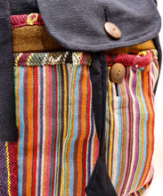Load image into Gallery viewer, HANDMADE WOVEN MULTI-COLORED DRAWSTRING HANDBAG & BACKPACK