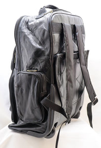 GENUINE LEATHER MULTI-USE ROLLAWAY LUGGAGE