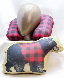 LUMBERJACK PLAID 2-IN-1 CONVERTIBLE TRAVEL PILLOW