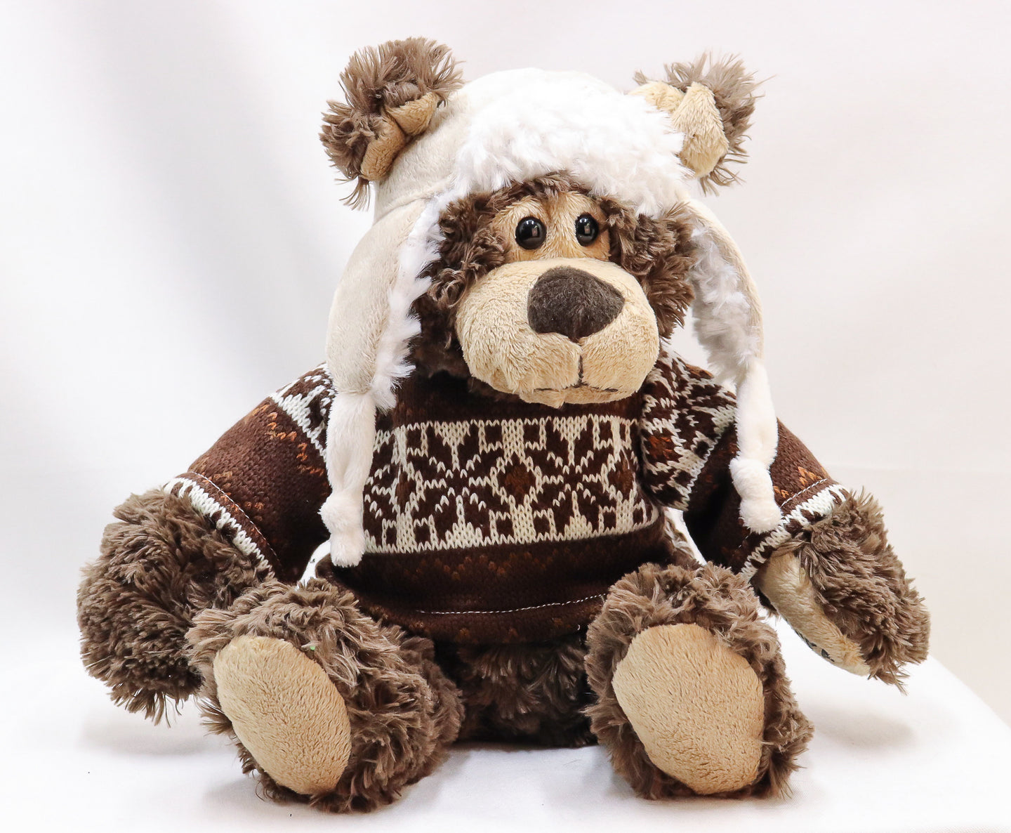 SWEATER AND HAT WEARING GRIZZLY BEAR 9-INCH