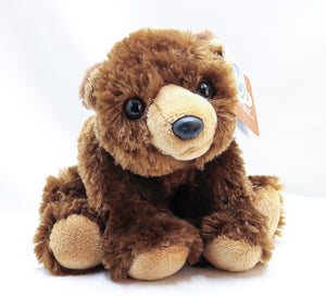 LONELY GRIZZLY BEAR CUB 8-INCH