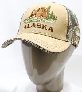 CAMO BEAR SCRATCH ADJUSTABLE BASEBALL HAT