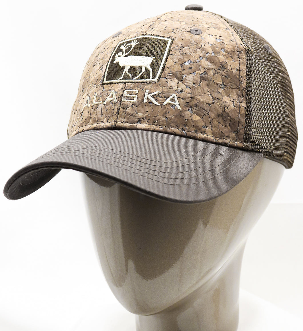 CORK AK CARIBOU ADJUSTABLE MESH BASEBALL HAT