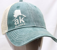 Load image into Gallery viewer, GREEN AK MAP ADJUSTABLE MESH BASEBALL HAT
