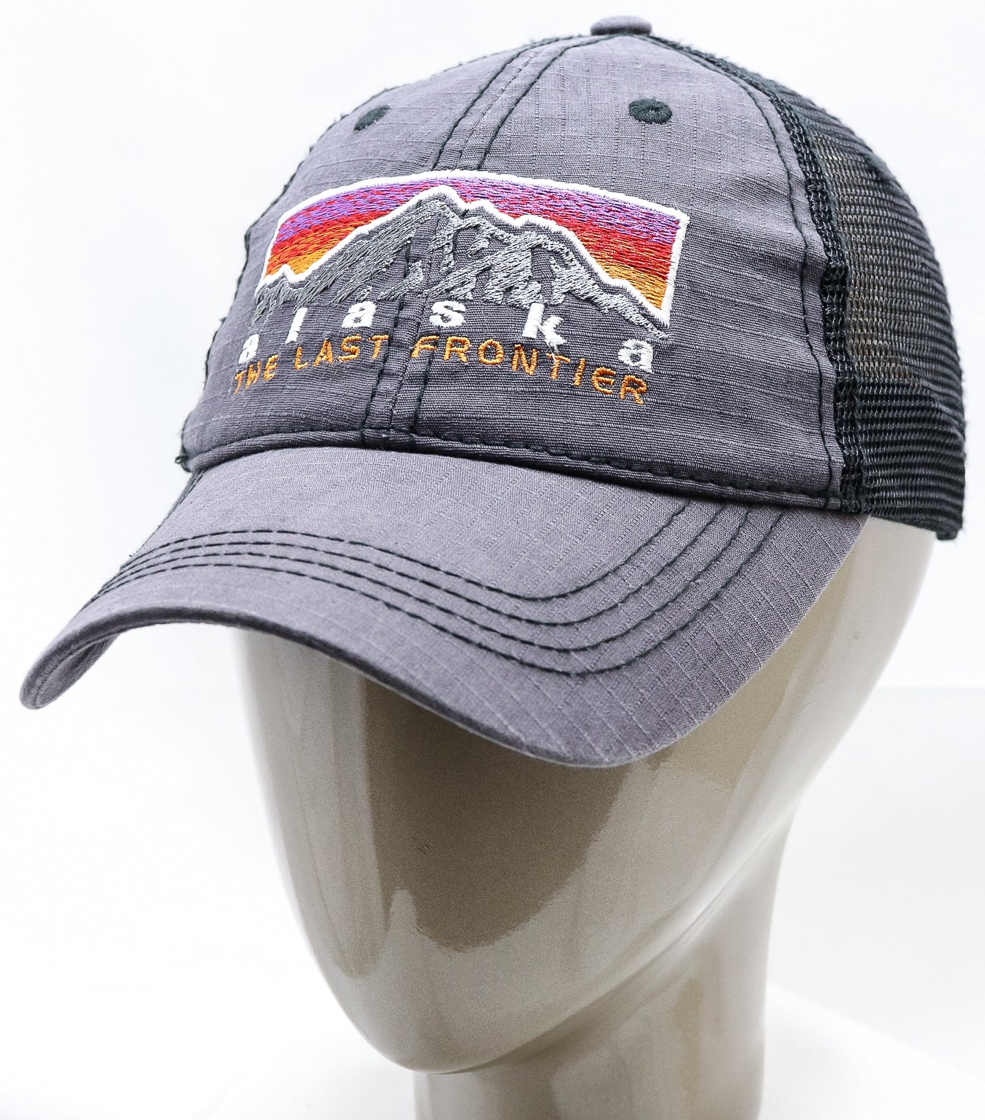 GREY RETRO MOUNTAIN ADJUSTABLE MESH BASEBALL HAT