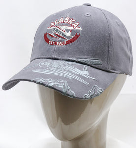 GREY BUSH PLANE ADJUSTABLE BASEBALL HAT