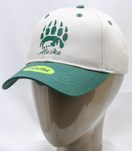 GREEN BEAR PAW YOUTH ADJUSTABLE BASEBALL HAT