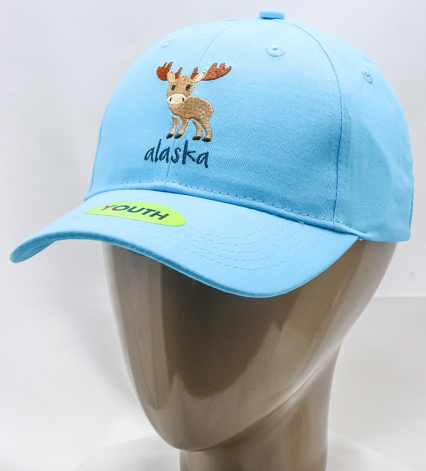 TURQUOISE SMALL MOOSE ADJUSTABLE YOUTH BASEBALL HAT
