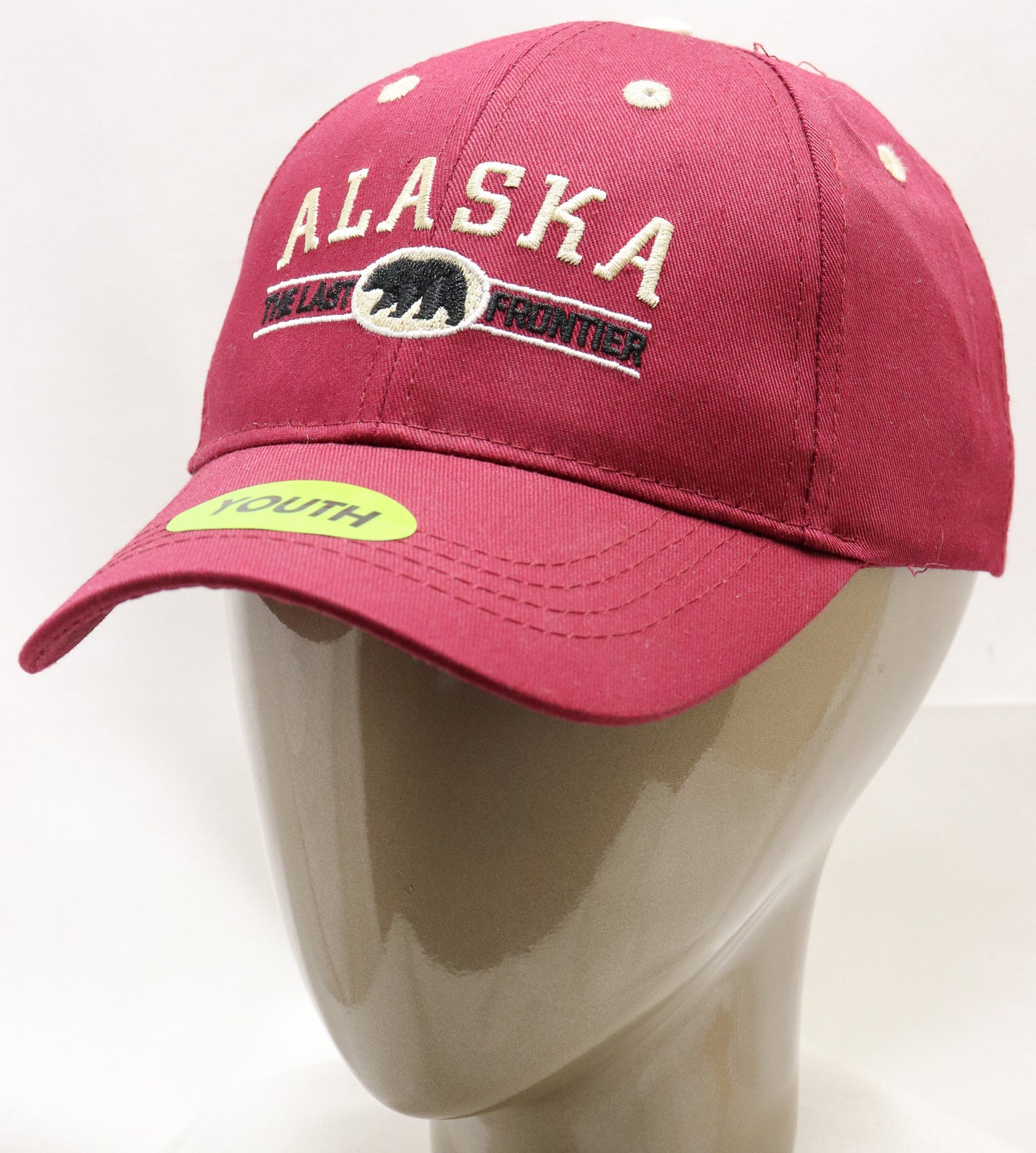 MAROON AK LAST FRONTIER ADJUSTABLE YOUTH BASEBALL HAT