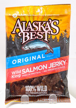 Load image into Gallery viewer, ALASKA'S BEST WILD KING SALMON JERKY 3 OZ