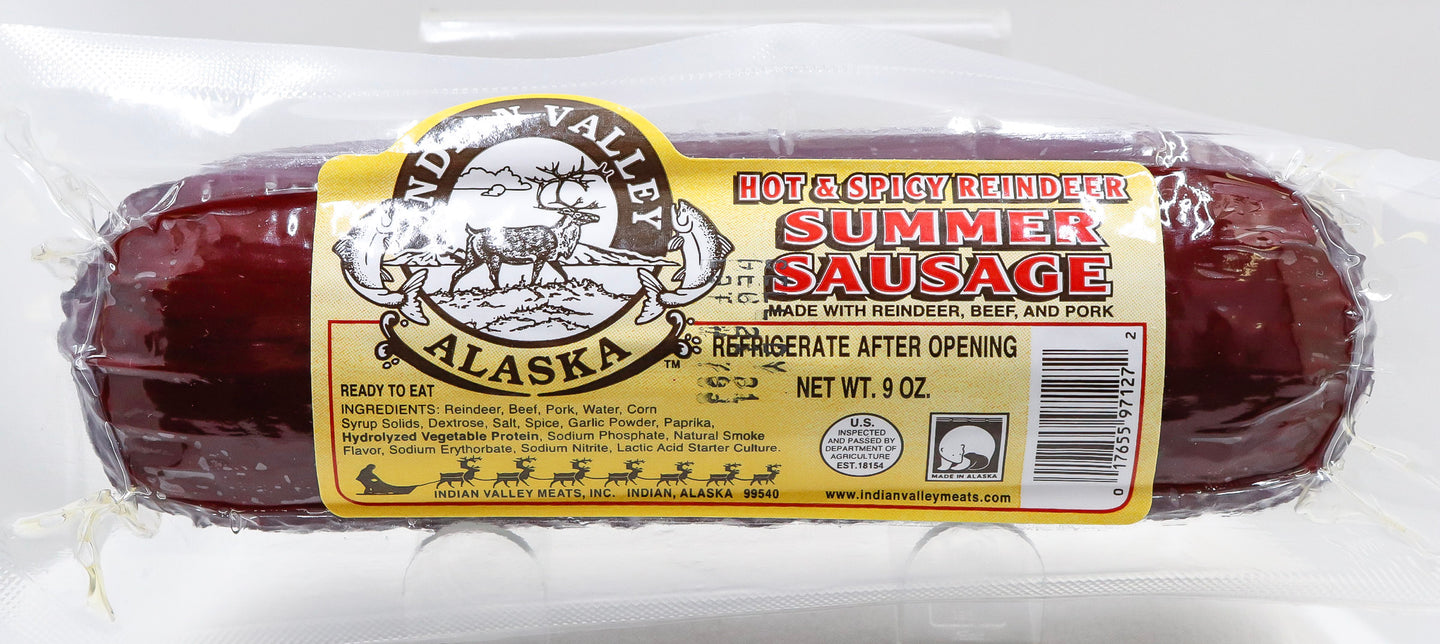 HOT & SPICY REINDEER SUMMER SAUSAGE 9 OZ