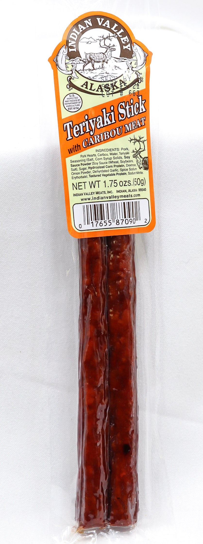 INDIAN VALLEY TERIYAKI CARIBOU STICK 1.75 OZ
