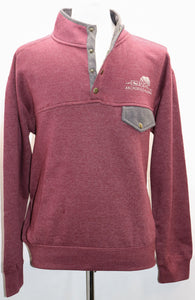 MAROON TOE THE LINE GRIZZLY BEAR PULL-OVER FLEECE