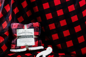 CARSTENS LUMBERJACK PLAID FLEECE THROW