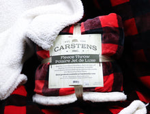 Load image into Gallery viewer, CARSTENS LUMBERJACK PLAID FLEECE THROW