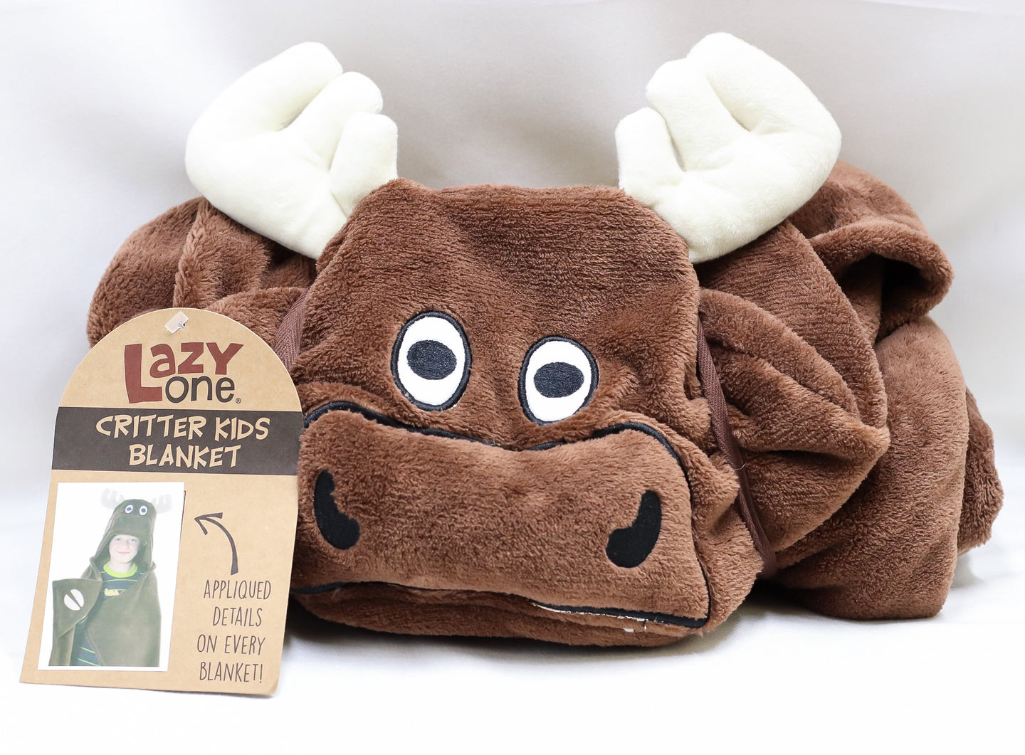 LAZY ONE MR MOOSE CHILDS WEARABLE BLANKET