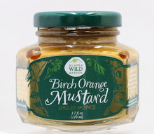 Load image into Gallery viewer, ALASKAN BIRCH SYRUP AND ORANGE MUSTARD 3.7 OZ GLASS CONTAINER