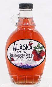 WILD SALMONBERRY SYRUP 10 OZ GLASS CONTAINER