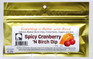 SPICY CRANBERRY AND ALASKAN BIRCH SYRUP 1.6 OZ DIP MIX