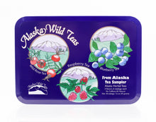Load image into Gallery viewer, ALASKA WILD TEAS SAMPLER TIN CASE 1.6 OZ