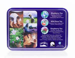 ALASKA WILD TEAS SAMPLER TIN CASE 1.6 OZ