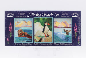 ALASKA BLACK TEA ASSORTED FLAVORS SAMPLER BOX 1.25 OZ