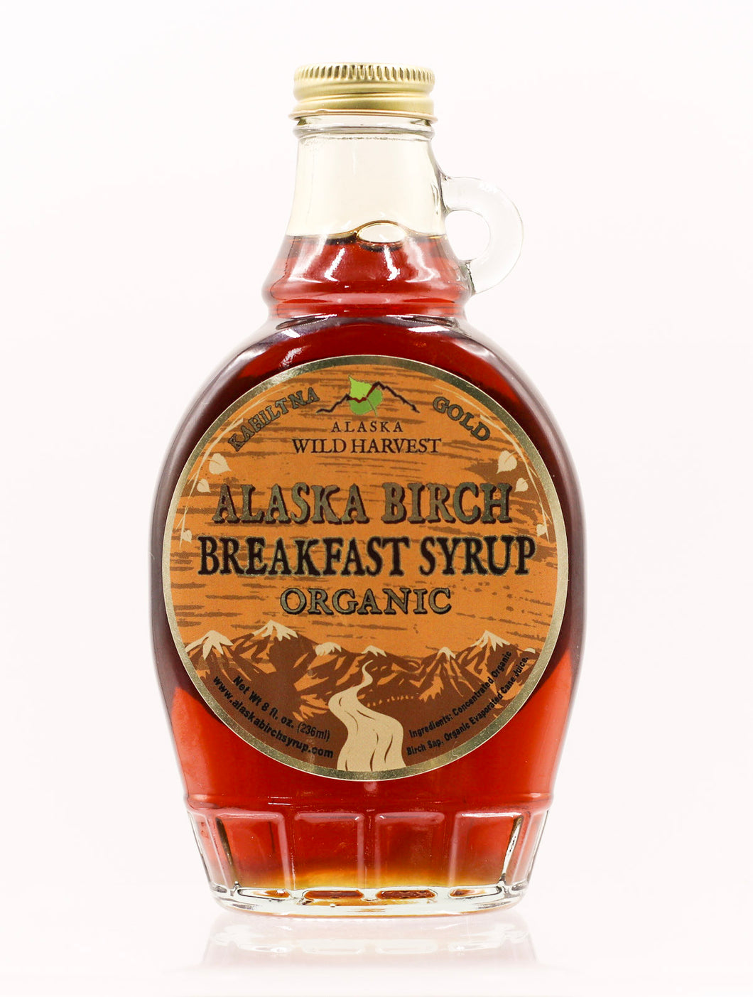 ALASKA BIRCH BREAKFAST SYRUP GLASS 8 OZ