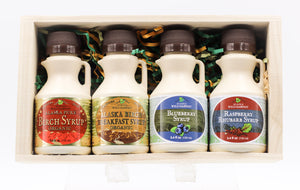 ALASKA WILD HARVEST SYRUP QUAD-FLAVOR BOX SET 3.4 OZ