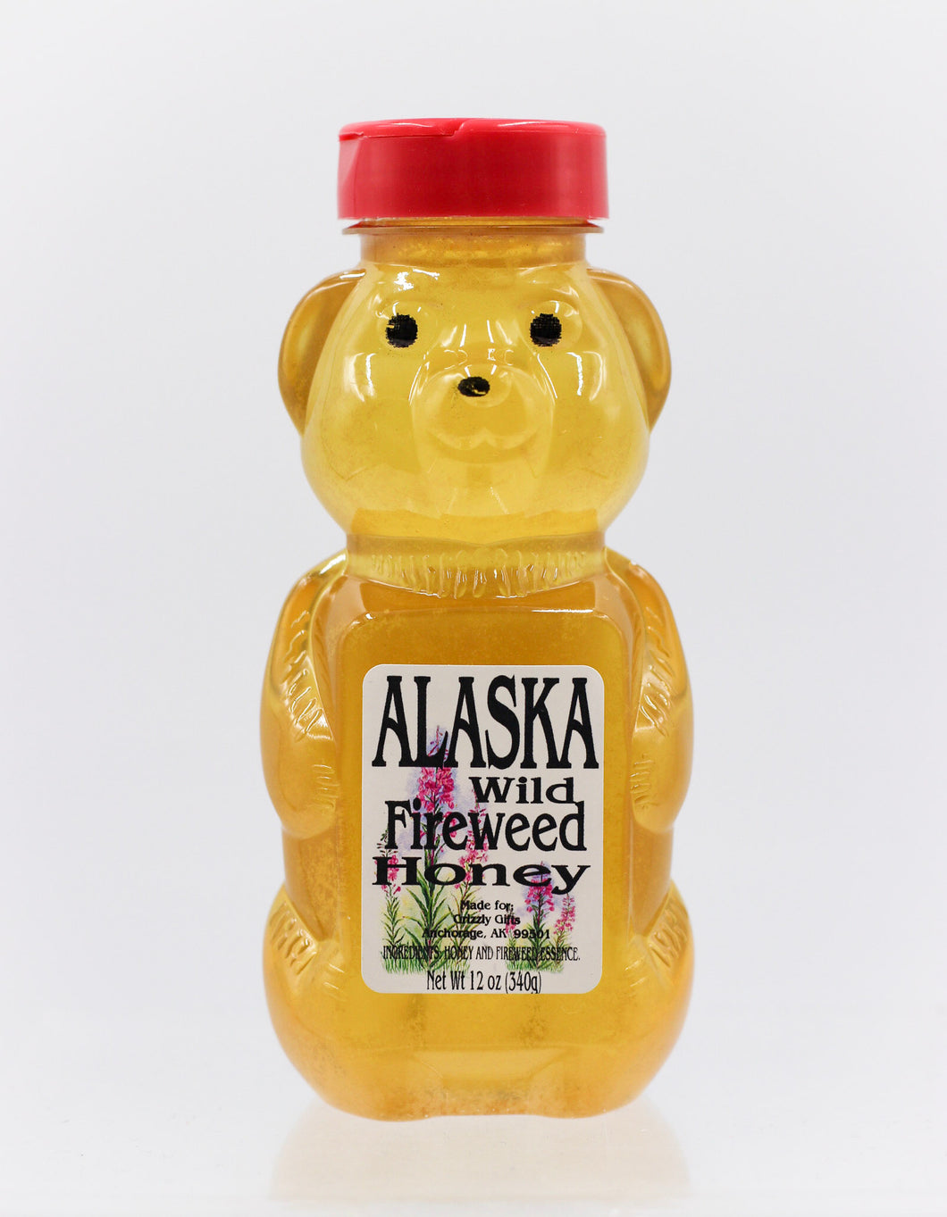 ALASKA WILD FIREWEED HONEY 19 OZ BEAR