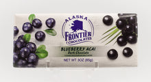 Load image into Gallery viewer, ALASKA FRONTIER BLUEBERRY ACAI DARK CHOCOLATE 3 OZ BAR