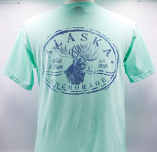 Load image into Gallery viewer, STAMP HEAD MOOSE WEATHERED T-SHIRT