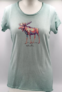 MIXED MEDIA MOOSE T-SHIRT