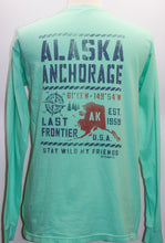 Load image into Gallery viewer, STENCIL MAP ALASKA WEATHERED LONG SLEEVE
