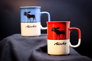 ALASKA MOOSE TWO-TONED 14 OZ MUG