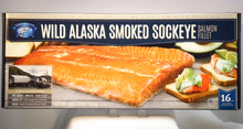 Load image into Gallery viewer, WILD ALASKAN SMOKED SOCKEYE SALMON FILLET 16 OZ