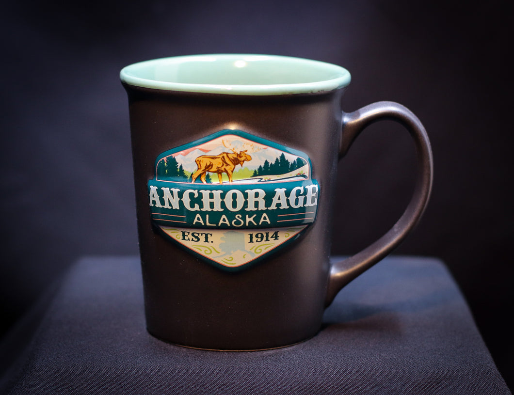 ANCHORAGE SHIELD CERAMIC 16 OZ MUG