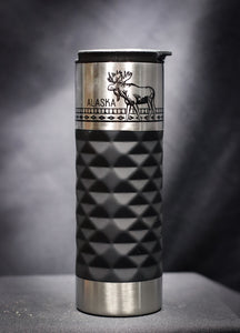 STAINLESS STEEL PATTERN MOOSE 16 OZ THERMAL MUG