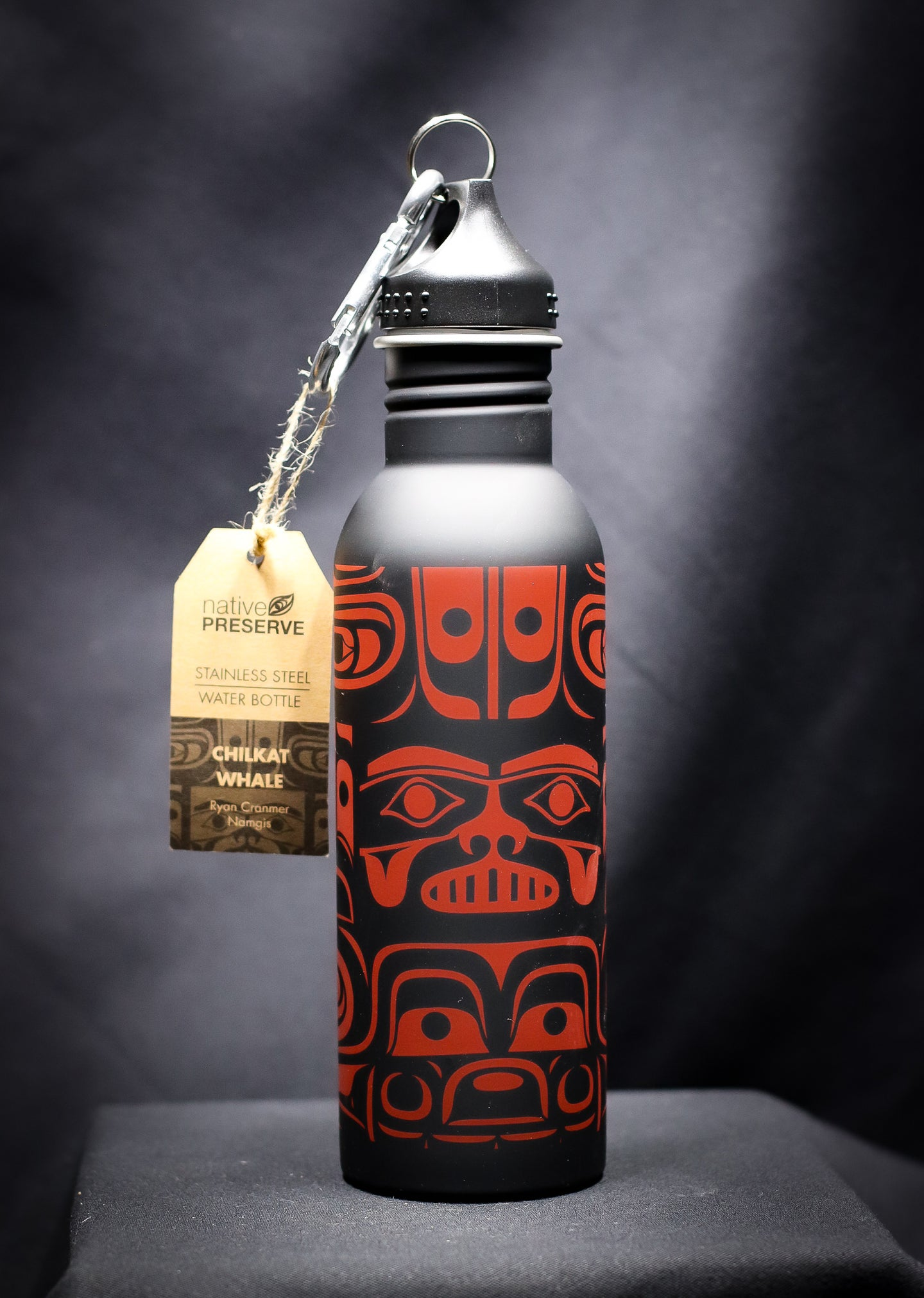 TOTEMIC CHILKAT WHALE STAINLESS STEEL 25 OZ SPORTS BOTTLE
