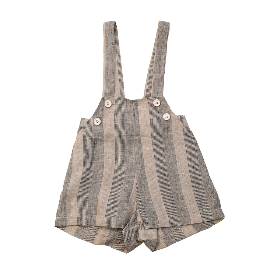 EXCLUSIVE COLLECTION! MUSHROOM STRIPED BABY OVERALLS