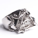 Vintage Octopus Triangle Eye Ring - Bomby Box