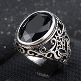 Stone Antique Silver Ring - Bomby Box