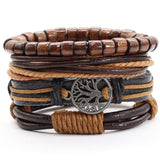Leather Tree of Life Bracelet - Leather Bracelet - Bomby Box