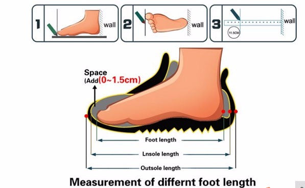 How to measure foot size for OZ STORE